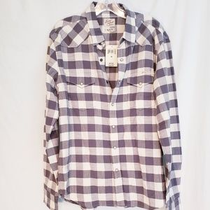 Lucky brand shirt grey check size med